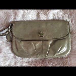 Used Large Coach Wristlet